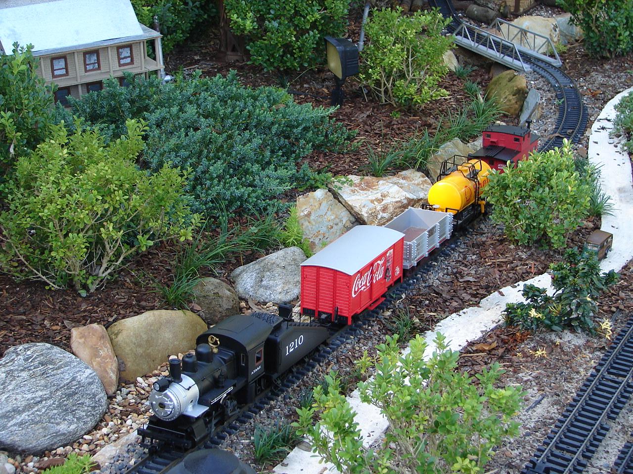 River Bed In Backyard : Railroad in my Backyard  Centralia Garden Railroad