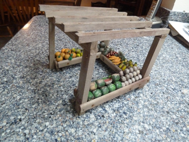 Old weathered fruit & veggie stand